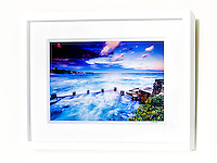 Nightfall, Coogee &ndash; Ex exhibition work. One only available. 8x12&rdquo; signed print on Fujicolor Pearl metallic paper. Mounted on 2mm aluminium composite. White box frame with white mattboard, UV acrylic &amp; D-ring hangers. Outside frame dimensions 350 x 450 x 38mm. Clearance price $129 incl GST &amp; free delivery in Sydney metro area. Add $30 delivery elsewhere in Australia. <br />