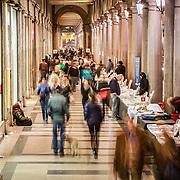 """Torino, """"Portici di Carta"""" la libreria all'aperto più lunga del mondo: oltre due chilometri di bancarelle che attraversano tutto il centro della città. <br /> <br /> Turin, """"Portici di Carta"""" library outdoor longest in the world: over two kilometers of stalls running throughout the city center."""
