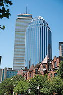 Detail photo of Back Bay Boston showing Prudential Tower and 111 Huntington Avenue