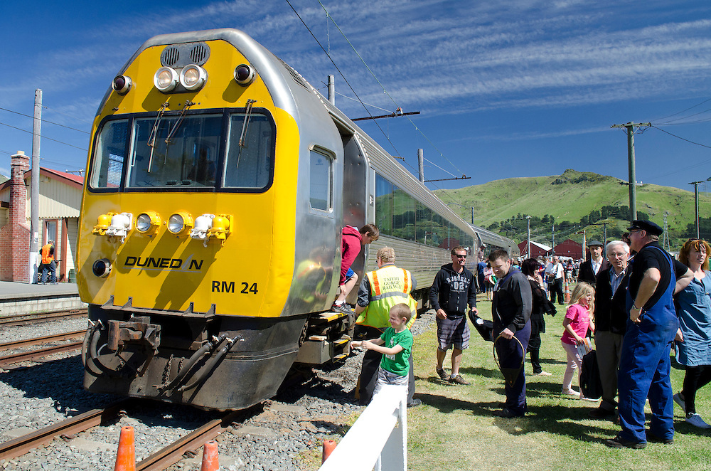 Enthusiasts enjoy the sights and sounds of rail travel at Ferrymead Historic Park as 150 years of railways in New Zealand is celebrated in it's birthplace, Ferrymead, Christchurch, New Zealand,  Saturday October 26, 2013. Credit: SNPA / David Alexander.