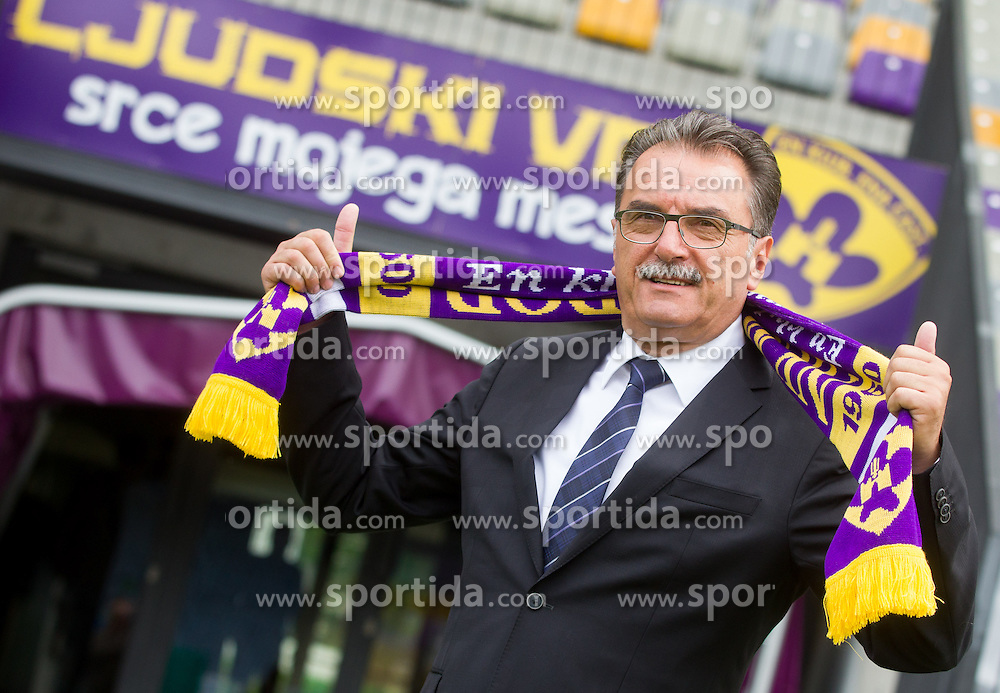 Ante Cacic of Croatia, new head coach of NK Maribor when he signed a contract for best Slovenian football club on June 5, 2013 in Ljudski vet, Maribor, Slovenia. (Photo By Vid Ponikvar / Sportida)