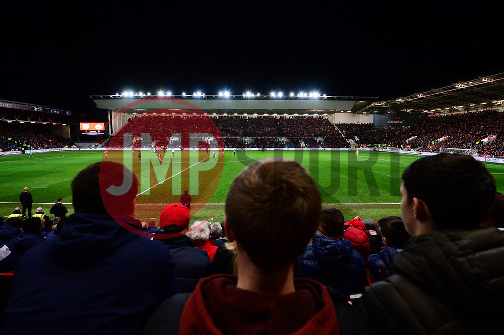 A general view of Ashton Gate stadium during the Bristol City v Manchester City Carabao Cup semi final - Mandatory by-line: Dougie Allward/JMP - 23/01/2018 - FOOTBALL - Ashton Gate Stadium - Bristol, England - Bristol City v Manchester City - Carabao Cup Semi Final second leg