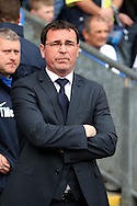 Blackburn Rovers' Manager Gary Bowyer prior to the game. Skybet football league championship match, Blackburn Rovers v Wigan Athletic at Ewood Park in Blackburn, England on Saturday 3rd May 2014.pic by Chris Stading, Andrew Orchard sports photography.