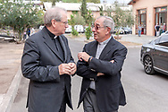ROME, ITALY - SEPTEMBER 01: New vicar of Rome, Angelo De Donatis, the director of Caritas Rome, Msgr. Enrico Feroci  during visit the Citadel of the Charity of the Diocesan Caritas of Rome on September 1, 2017 in Rome, Italy. Italian PM Paolo Gentiloni visit the Caritas is to express the gratitude of all Italians to the world of volunteering, to those who work in favour of solidarity. (Photo by Stefano Montesi - Corbis/Corbis via Getty Images) *** Local Caption *** Angelo De Donatis; Enrico Feroci
