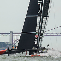 Team Oracle prior to the Louis Vuitton Cup Round Robin 4.  Emirates Team New Zealand defeats Luna Rosa Challenge