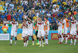04.07.2014, Maracana, Rio de Janeiro, BRA, FIFA WM, Frankreich vs Deutschland, Viertelfinale, im Bild End, Germany 1-0 to France // during quarterfinals between France and Germany of the FIFA Worldcup Brazil 2014 at the Maracana in Rio de Janeiro, Brazil on 2014/07/04. EXPA Pictures © 2014, PhotoCredit: EXPA/ Eibner-Pressefoto/ Cezaro<br /> <br /> *****ATTENTION - OUT of GER*****