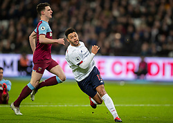 LONDON, ENGLAND - Wednesday, January 29, 2020: Liverpool's Alex Oxlade-Chamberlain celebrates after scoring the second goal during the FA Premier League match between West Ham United FC and Liverpool FC at the London Stadium. Liverpool won 2-0. (Pic by David Rawcliffe/Propaganda)