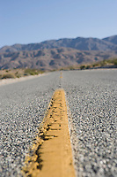 Close-up of desert road
