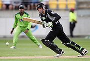 NZ Opening batsman Martin Guptill batting. New Zealand Black Caps v Pakistan, ODI Cricket. Match 1, Westpac Stadium, Wellington, New Zealand. Saturday 22 January 2011. Photo: Andrew Cornaga/photosport.co.nz