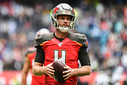 Tampa Bay Buccaneers Quarterback Ryan Griffin (4) during the International Series match between Tampa Bay Buccaneers and Carolina Panthers at Tottenham Hotspur Stadium, London, United Kingdom on 13 October 2019.