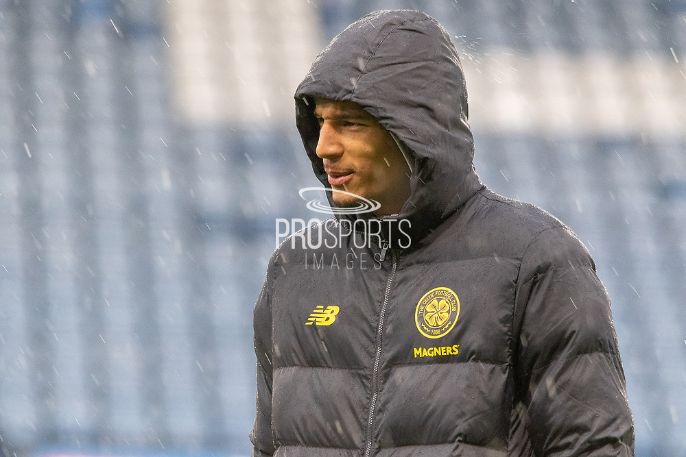 Christopher Jullien of Celtic FC out on the Pitch ahead of the Betfred Scottish League Cup Final match between Rangers and Celtic at Hampden Park, Glasgow, United Kingdom on 8 December 2019.