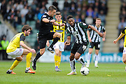 Plymouth Argyle's Jamille Matt during the Sky Bet League 2 match between Plymouth Argyle and Dagenham and Redbridge at Home Park, Plymouth, England on 23 April 2016. Photo by Graham Hunt.