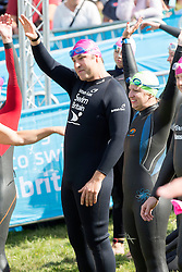 Celebrities take part in the British Gas SwimBritain at Blenheim Palace, Oxfordshire, United Kingdom. Sunday, 1st September 2013. Picture by i-Images