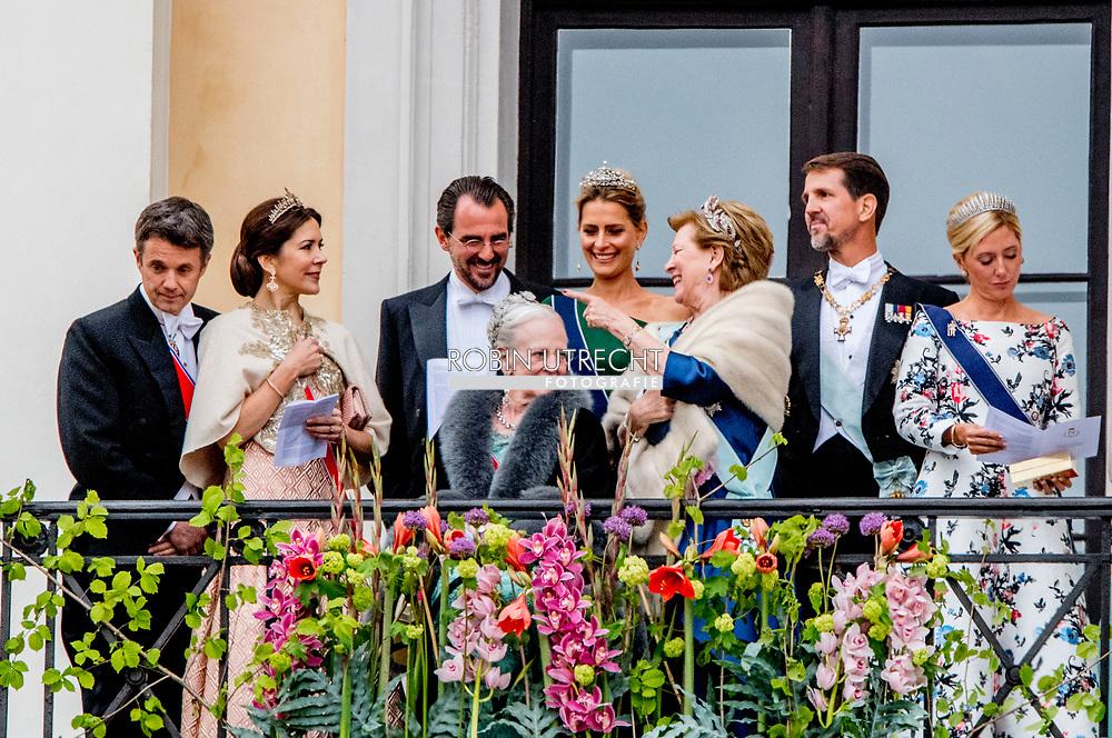9-5-2017 OSLO NORWAY - Their Majesties The King Harald and Queen Sonja greet people the Palace Square from the Palace Balcony. Many of their Royal guests will also be in attendance celebrations of king Harald birthday  Norway<br /> Prince Haakon and Crown Princess Mette-Marit Princess M&auml;rtha Louise Princess Astrid H.M. Queen Margrethe II  Crown Prince Frederik and Crown Princess Mary Prince Joachim and Princess Marie  King Carl XVI Gustaf and Queen Silvia Crown Princess Victoria and Prince Daniel Prince Carl Philip and Princess Sofia<br /> Grand Duke Herri and and Grand Duchess Maria-Teresa Archduke Duke Guillaume and Arvestor Duchess St&eacute;phanie H.F.H. First Albert II King Willem-Alexander and Queen Maxima Princess Beatrix of the Netherlands Prince Constantijn of the Netherlands Princess Mabel of Oranje-Nassau King Philippe and Queen Mathilde COPYRIGHT ROBIN UTRECHT<br /> <br /> 9-5-2017 OSLO NOORWEGEN - Hun Majesteiten De Koning Harald en Koningin Sonja begroeten mensen het Paleisplein van het Paleis Balkon. Veel van hun Koninklijke gasten zullen ook aanwezig zijn op feesten van koning Harald verjaardag Noorwegen<br /> Prins Haakon en Kroonprinses Mette-Marit Prinses M&auml;rtha Louise Prinses Astrid H.M. Koningin Margrethe II Kroonprins Frederik en Kroonprinses Mary Prins Joachim en Prinses Marie Koning Carl XVI Gustaf en Koningin Silvia Kroonprinses Victoria en Prins Daniel Prins Carl Philip en Prinses Sofia<br /> Groothertog Herri en Groot Hertogin Maria-Teresa Aartshertog Duke Guillaume en Arvestor Duchess St&eacute;phanie H.F.H. Eerste Albert II Koning Willem-Alexander en Koningin Maxima Prinses Beatrix van de Prins Constantijn van Nederland Prinses Mabel van Oranje-Nassau Koning Philippe en Koningin Mathilde COPYRIGHT ROBIN UTRECHT