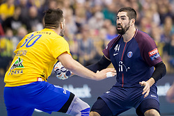 Nikola Karabatic of PSG during handball match between RK Celje Pivovarna Lasko (SLO) and Paris Saint-Germain Handball (FRA) in VELUX EHF Champions League, on February 11, 2018 in Dvorana Zlatorog, Celje, Slovenia. Photo by Urban Urbanc / Sportida