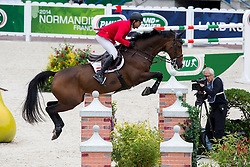 Karim El Zoghby, (EGY), Amelia - Team & Individual Competition Jumping Speed - Alltech FEI World Equestrian Games™ 2014 - Normandy, France.<br /> © Hippo Foto Team - Leanjo De Koster<br /> 02-09-14