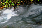 water flows in a stream long exposure