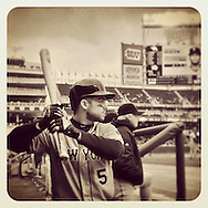 An Instagram of David Wright of the New York Mets at Target Field in Minneapolis, Minnesota.