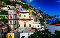 &quot;Colorful overview of Santa Maria Assunta in Positano&quot;...<br />