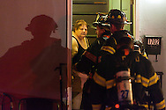 Firefighters respond to a late-night call.