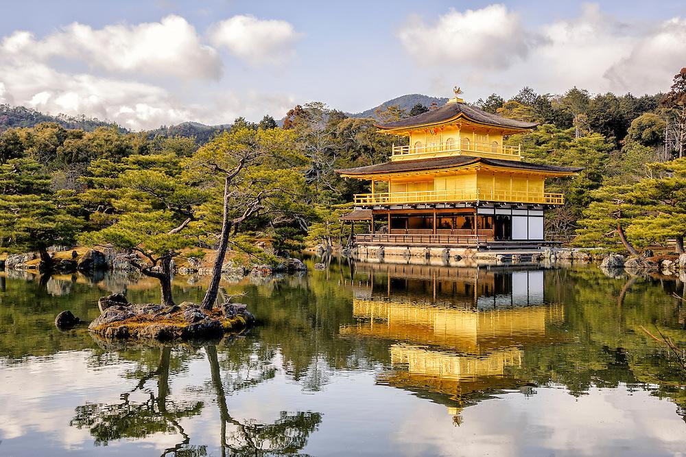 Kinkaku-ji Temple in Kyoto, Japan.