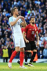 England's Harry Kane reacts after missing a penalty  - Mandatory byline: Matt McNulty/JMP - 07966386802 - 22/05/2016 - FOOTBALL - Etihad Stadium -Manchester,England - England v Turkey - International Friendly