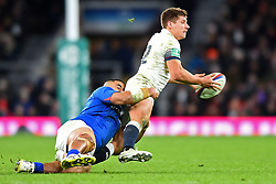 November 25, 2017 - London, England, United Kingdom - England's Piers Francis gets tackled during Old Mutual Wealth Series between England against Samoa at Twickenham stadium , London on 25 Nov 2017  (Credit Image: © Kieran Galvin/NurPhoto via ZUMA Press)