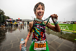 Athlete celebrates during Ironman 70.3 Slovenian Istra 2019, on September 22, 2019 in Koper / Capodistria, Slovenia. Photo by Vid Ponikvar / Sportida