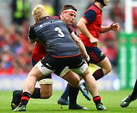 Rugby Union - 2016 / 2017 European Rugby Champions Cup - Semi-Final: Munster vs. Saracens<br /> <br /> Munster's CJ Stander in action against Vincent Koch of Saracens  at the Aviva Stadium, Dublin.<br /> <br /> COLORSPORT/KEN SUTTON