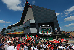 July 8, 2018 - Silverstone, Great Britain - Motorsports: FIA Formula One World Championship 2018, Grand Prix of Great Britain, ..#44 Lewis Hamilton (GBR, Mercedes AMG Petronas Motorsport), #5 Sebastian Vettel (GER, Scuderia Ferrari), #7 Kimi Raikkonen (FIN, Scuderia Ferrari) (Credit Image: © Hoch Zwei via ZUMA Wire)