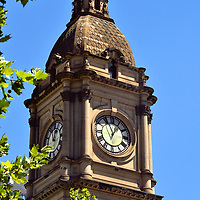 Melbourne Town Hall Clock Tower in Melbourne, Australia <br />