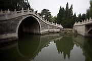 Imperial Summer Palace (Yihe Yuan). Back lake. Half-Wall Bridge.
