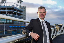 Finance Secretary Derek Mackay at the Barclays Bank construction site at Tradeston, Glasgow. Pic: Terry Murden @edinburghelitemedia
