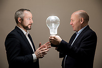 No repro fee<br /> 15-1-2017<br /> Caption: Pictured ahead of the EirGrid Conference &ldquo;Planning for our Energy Future&rdquo; &nbsp;are (L-R)  Jim Gannon, CEO of the Sustainable Energy Authority of Ireland ; and Fintan Slye, EirGrid Chief Executive, who will address up to 300 delegates at the conference in Dublin Castle&nbsp; on Thursday 26 January. The keynote speaker Dr Fatih Birol, Executive Director of the International Energy Agency (IEA) in Paris, has been named by Forbes magazine among the most influential people on the world&rsquo;s energy scene.Pic:Naoise Culhane-no fee