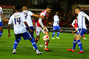 Fleetwood Town Midfielder Wes Burns during the Sky Bet League 1 match between Fleetwood Town and Walsall at the Highbury Stadium, Fleetwood, England on 15 March 2016. Photo by Pete Burns.