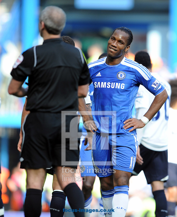 Picture by Andrew Timms/Focus Images Ltd. 07917 236526.24/03/12.Didier Drogba of Chelsea during the Barclays Premier League match against Tottenham at Stamford Bridge stadium, London.