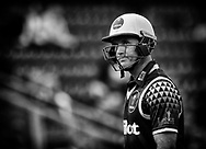 Glamorgan's Colin Ingram makes his way back to the dugout after being caught<br /> <br /> Photographer Simon King/Replay Images<br /> <br /> Vitality Blast T20 - Round 14 - Glamorgan v Surrey - Friday 17th August 2018 - Sophia Gardens - Cardiff<br /> <br /> World Copyright &copy; Replay Images . All rights reserved. info@replayimages.co.uk - http://replayimages.co.uk