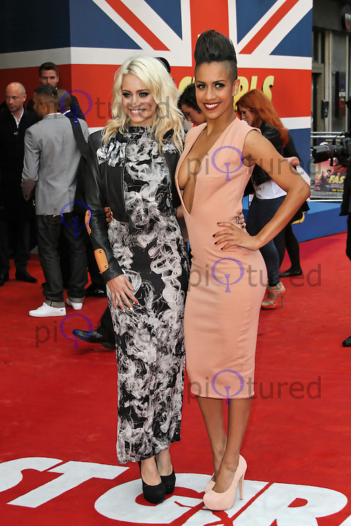LONDON - JUNE 07: Kimberly Wyatt; Dominique Tipper attends the World Film Premiere of 'Fast Girls' at the Odeon West End, Leicester Square, London, UK. June 07, 2012. (Photo by Richard Goldschmidt)