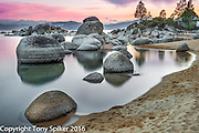 """Speedboat Beach Sunset 10"" - A landscape photograph of Lake Tahoe at Speedboat Beach"