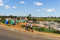 Shanty town. Soweto is a suburb of Johannesburg, South Africa, short for South Western Township. A symbol of the uprising against apartheid.