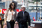 May 20-24, 2015: Monaco - Bernie Ecclestone with his wife Fabiana Flosi