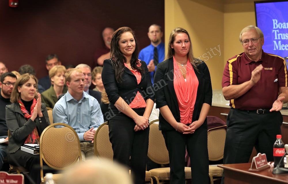Business students honored as the CMU Board of Trustees meet in the University Center on Thursday September 19, 2013.