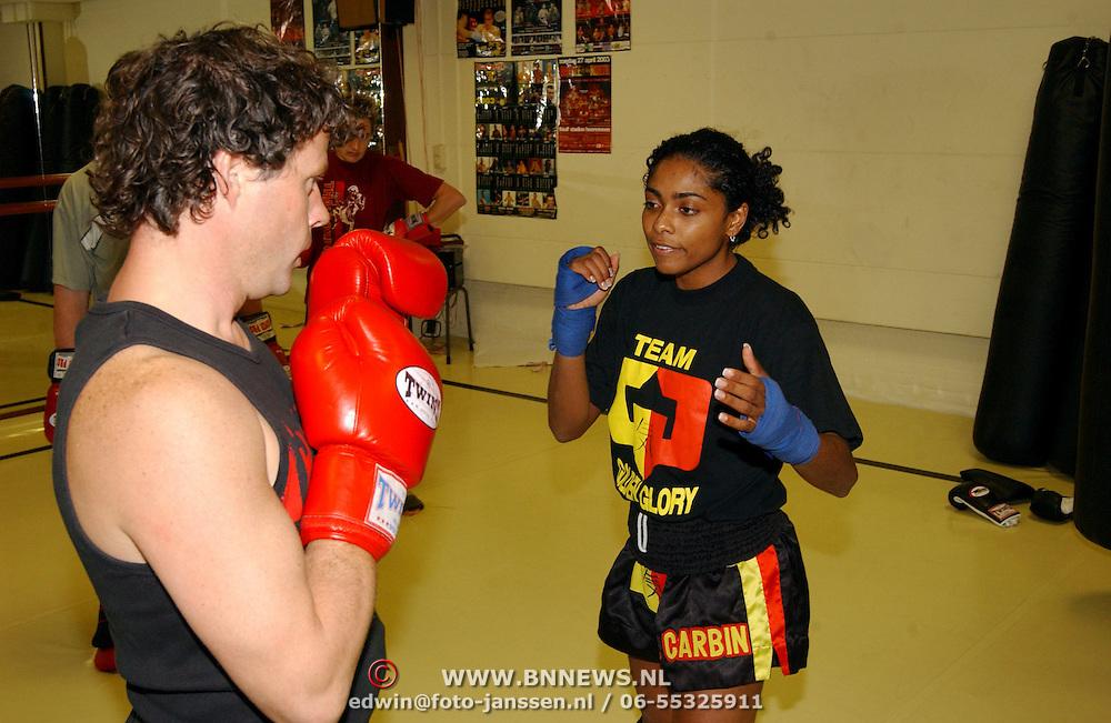 Kickboxclinic door Ilonke Elmond bij Everybody Gym Hilversum`