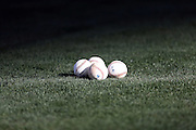 ANAHEIM, CA - APRIL 15:  Balls litter the field during the Los Angeles Angels of Anaheim batting practice before the game against the Oakland Athletics at Angel Stadium on Tuesday, April 15, 2014 in Anaheim, California. The Athletics won the game 10-9 in eleven innings. (Photo by Paul Spinelli/MLB Photos via Getty Images)