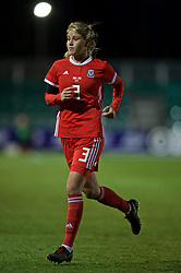 NEWPORT, WALES - Thursday, April 4, 2019: Wales' Gemma Evans during an International Friendly match between Wales and Czech Republic at Rodney Parade. (Pic by David Rawcliffe/Propaganda)