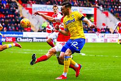 Jack Harrison of Leeds United whips in the cross - Mandatory by-line: Ryan Crockett/JMP - 26/01/2019 - FOOTBALL - Aesseal New York Stadium - Rotherham, England - Rotherham United v Leeds United - Sky Bet Championship