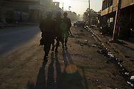 Port-au-Prince, HAITI, 20/03/2011: One year after the massive earthquake hit Haiti's capital, people try to recover their quotidian life, in the middle of a destructed city. UN soldiers patrol downtown Port-au-Prince.   (photo: Caio Guatelli)