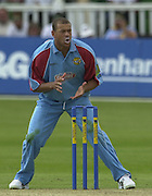 .24/06/2002.Sport - Cricket - .One day game 50 overs - Kent CC vs India.St Lawrence Ground - Canterbury.Andrew Symonds.