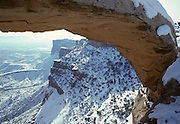 Mesa Arch, Snow, Winter, Canyonlands, Canyonlands National Park, Utah