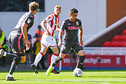 Leeds United midfielder Pablo Hernandez (19) in action during the EFL Sky Bet Championship match between Stoke City and Leeds United at the Bet365 Stadium, Stoke-on-Trent, England on 24 August 2019.
